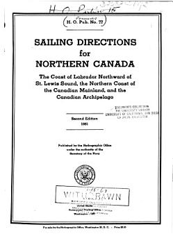 Sailing Directions for Northern Canada PDF