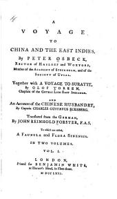 A Voyage to China and the East Indies: Volume 1