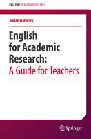 English for Academic Research  A Guide for Teachers PDF