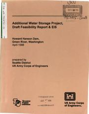 Howard A  Hanson Dam  HHD  Additional Water Storage  AWS  Project PDF