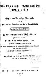 Huldreich Zwingli's Werke: Band 2,Teil 1