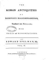 The Roman Antiquities of Dionysius Halicarnassensis: Volume 4