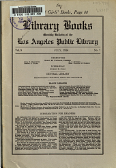 Library Books: Monthly Bulletin of the Los Angeles Public Library, Volume 9, Issue 7