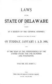 At A General Assembly Begun At Dover  In The Delaware State      The Following Acts Were Passed