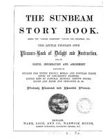 The sunbeam story book  the  Golden childhood  vol  for Christmas  1879 PDF