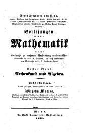 Vorlesungen über die Mathematik ...