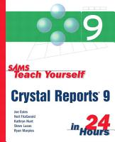 Sams Teach Yourself Crystal Reports 9 in 24 Hours PDF