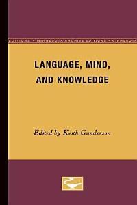 Language  Mind  and Knowledge PDF