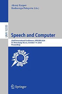 Speech and Computer Book