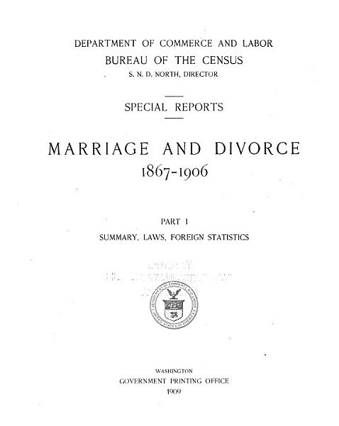 Download Marriage and Divorce  1867 1906 Book
