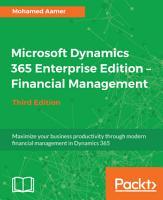 Microsoft Dynamics 365 Enterprise Edition     Financial Management PDF