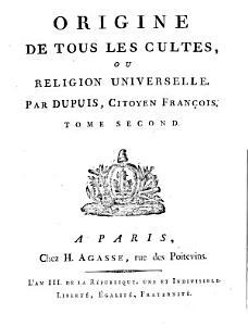 Origine de tous les cultes  ou religion universelle PDF