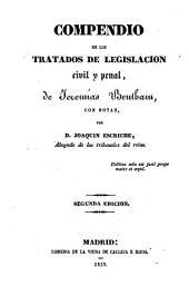 Compendio de los tratados de legislación civil y penal