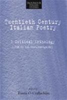 Twentieth century Italian Poetry PDF