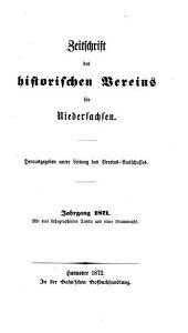 Zeitschrift des Historischen Vereins für Niedersachsen: 1871