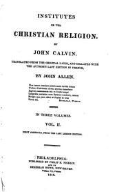 Institutes of the Christian Religion: Volume 2