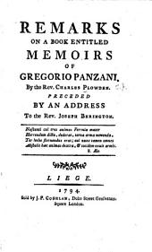 Remarks on a Book Entitled Memoirs of Gregorio Panzani