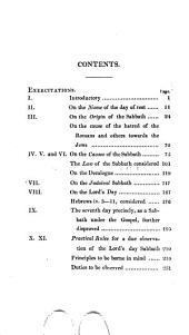 Exercitations concerning the name, original
