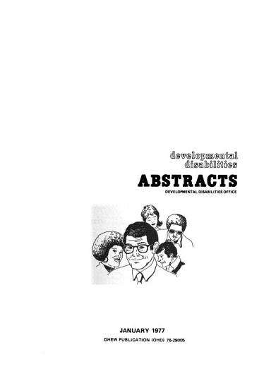 Developmental Disabilities Abstracts PDF