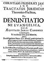 Tractatus iur. theor. pract. de denuntiatione evangelica