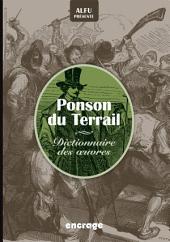Dico Ponson du Terrail: Dictionnaires des œuvres