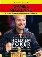 La Sabidur  a del HOLD EM Poker Para todos PDF