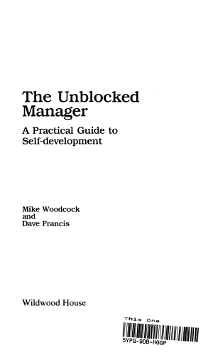 The Unblocked Manager PDF
