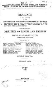 River and Harbor Appropriation Bill: Hearings on H.R. 11892 Held Before the Committee on Rivers and Harbors, House of Representatives, Sixty-sixth Congress, Second Session ... January 6, 7, 9, 10, 12, 13, 14, and 15, 1920