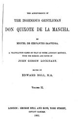 The Achievements of The Ingenious Gentleman Don Quixote de la Mancha: Volume 2