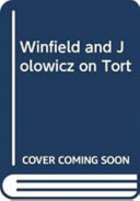 Winfield and Jolowicz on Tort PDF