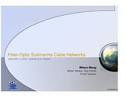 Fiber Optic Submarine Cable Networks PDF
