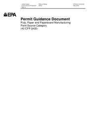 Permit guidance document pulp  paper  and paperboard manufacturing point source category  40 CFR 430   PDF