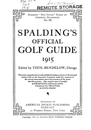 Spalding's Official Golf Guide
