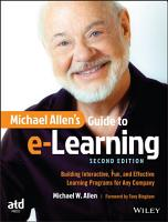 Michael Allen s Guide to E Learning PDF