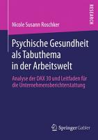 Psychische Gesundheit als Tabuthema in der Arbeitswelt PDF