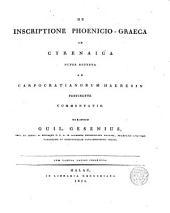De Inscriptione Phoenicio-Graeca in Cyrenaica nuper reperta