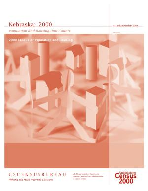 Census of population and housing  2000   Nebraska Population and Housing Unit Counts PDF