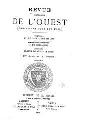 Revue historique de l'Ouest: Volume15