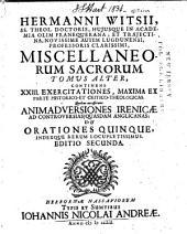 Hermanni Witsii ... Miscellaneorum sacrorum libri quatuor: cum tabulis aliquot aeneis, Volume 2