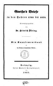 Goethe's Briefe in den Jahren 1768 bis 1832