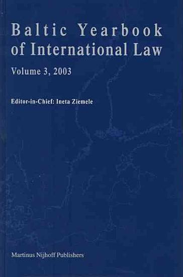 Baltic Yearbook of International Law  2003 PDF