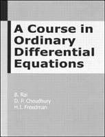 A Course in Ordinary Differential Equations PDF