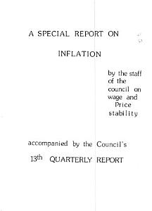 A Quarterly Report of the Council on Wage and Price Stability PDF