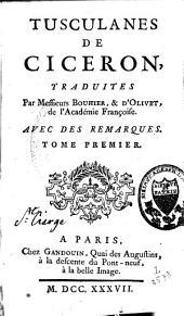 Tusculanes de Ciceron: Volume1