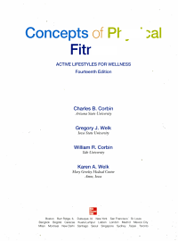 Concepts of Physical Fitness Book