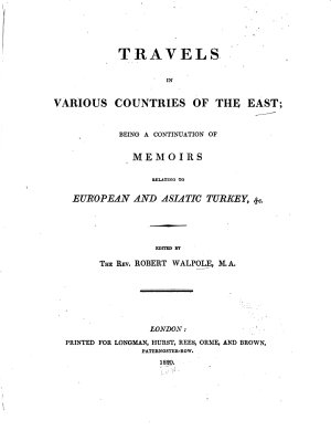Travels in Various Countries of the East