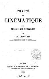 Traité de cinématique, ou théorie des mécanismes