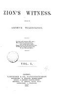 Zion s witness  ed  by A  Wilcockson PDF