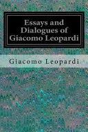 Essays and Dialogues of Giacomo Leopardi PDF