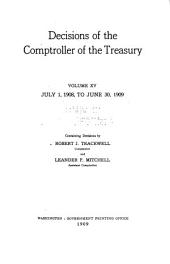 Decisions of the Comptroller of the Treasury: Volume 15